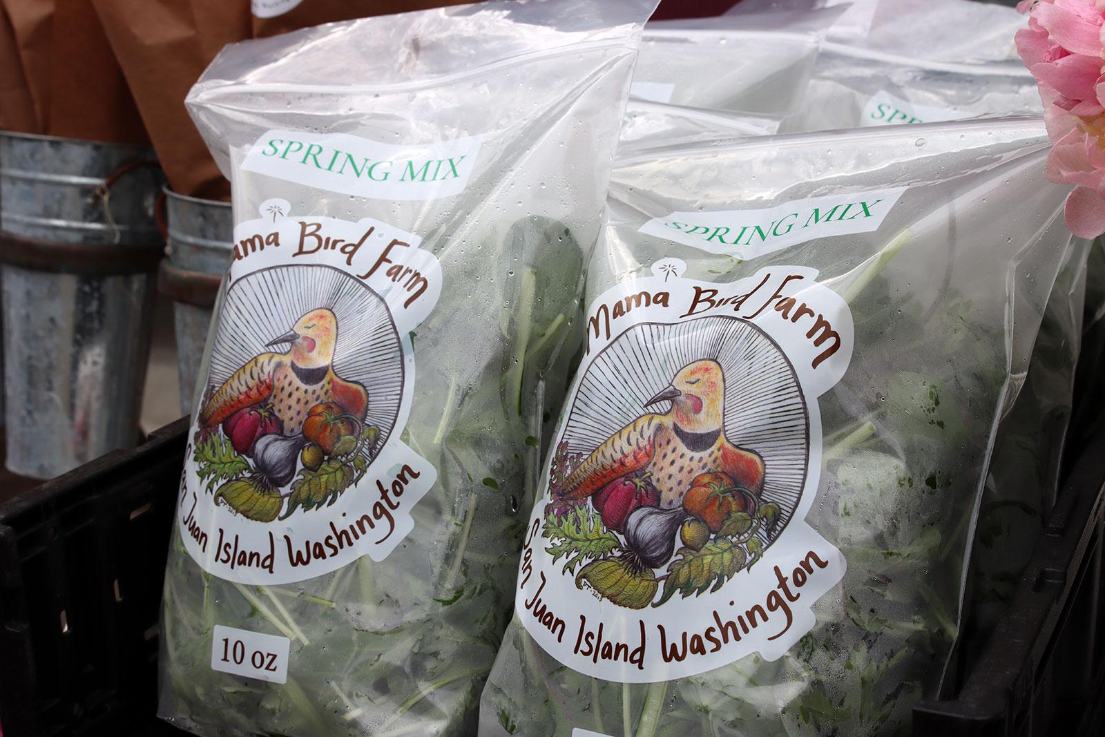 Mama Bird Farm salad mix
